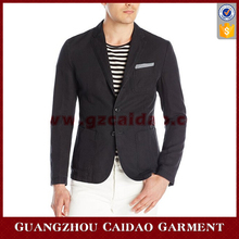 Two-button Blazer in Cotton-linen Blend Featuring Patch Pockets at Sides and Chest