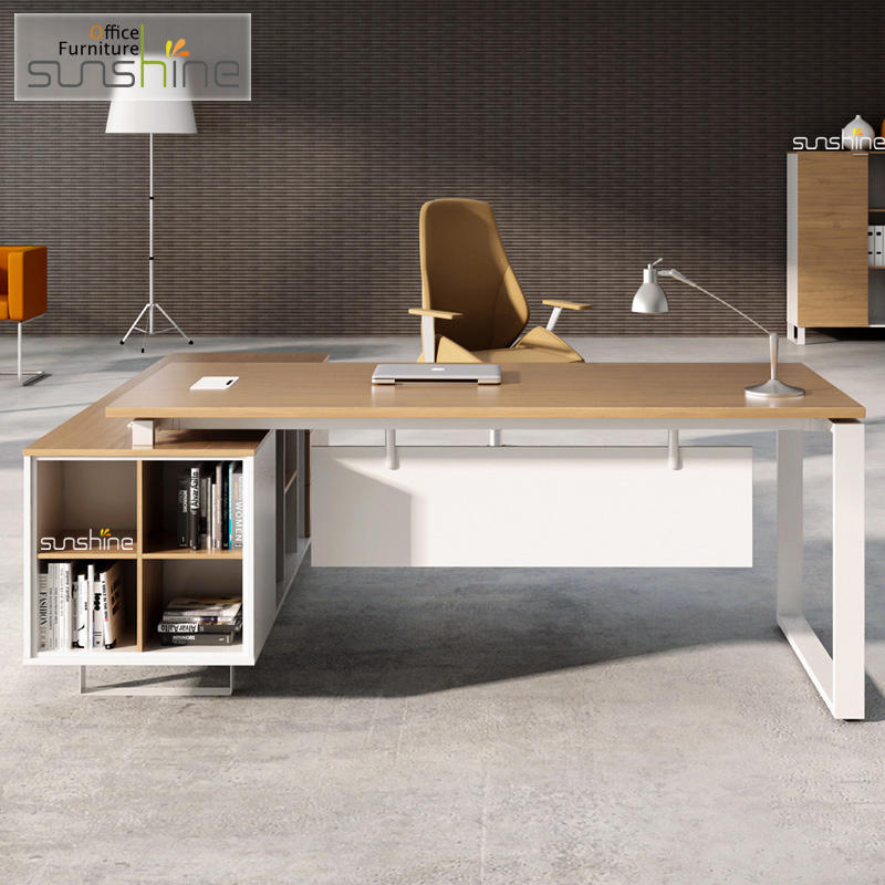 European Executive Office Furniture Desk With Side Return
