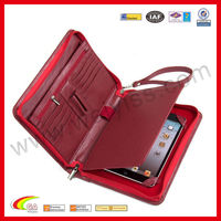 Genuine Leather Padfolio with Wrist Strap for iPad Mini Padfolio Case