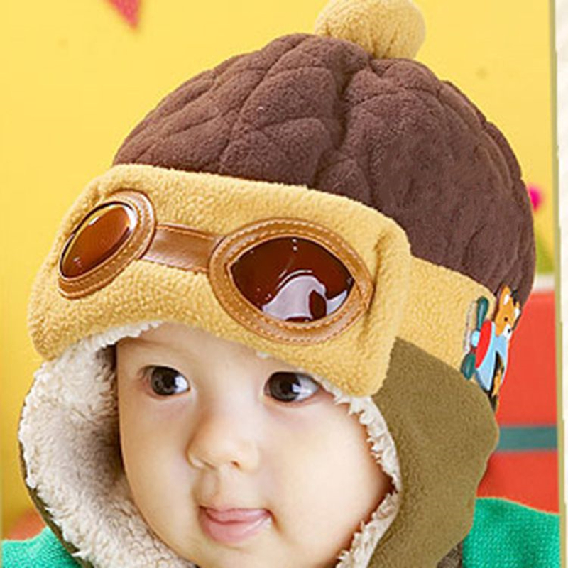 4 Colors Toddlers Cool Boy Girl Kids baby Winter hats Pilot Aviator Warm Cap Hat Beanie Ear Flap Soft Hat