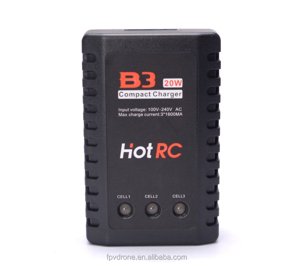 Newest Hot RC B3 20W 2S-3S Lipo Battery Balance Charger for RC Helicopter (US / EU plug)