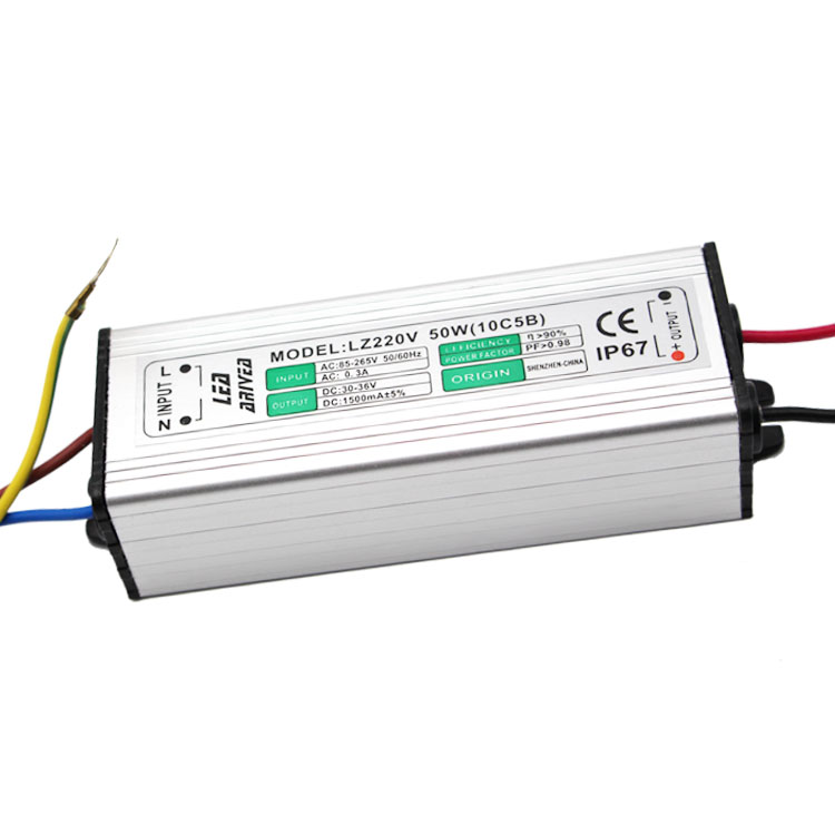 factory direct sales driver moso 50w 1500ma 220v waterproof led driver ip65