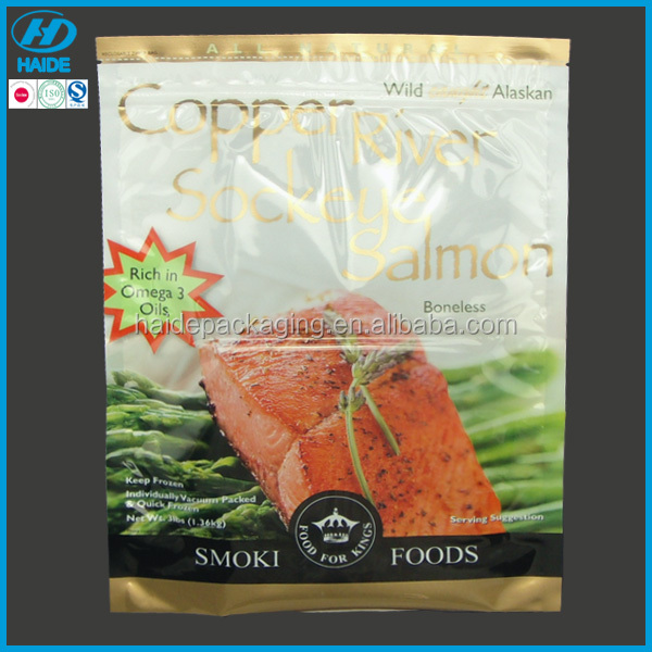 plastic frozen fast food packaging bag for meat