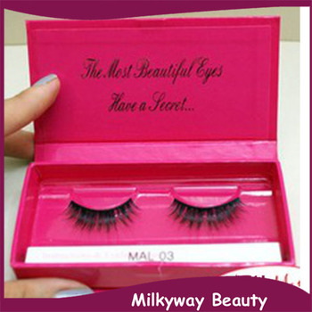 100% natural mink fur false eyelash Real siberian mink fur strip lashes magnet box packaging