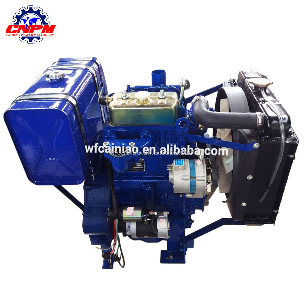 28hp small diesel engine water cooled twin cylinder diesel engine for sale