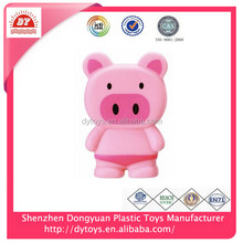 factory price plastic small pink pig shape soft toys for babies