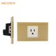 Wenzhou city glass power socket 3 pin socket White/black/yellow/brown/blue color