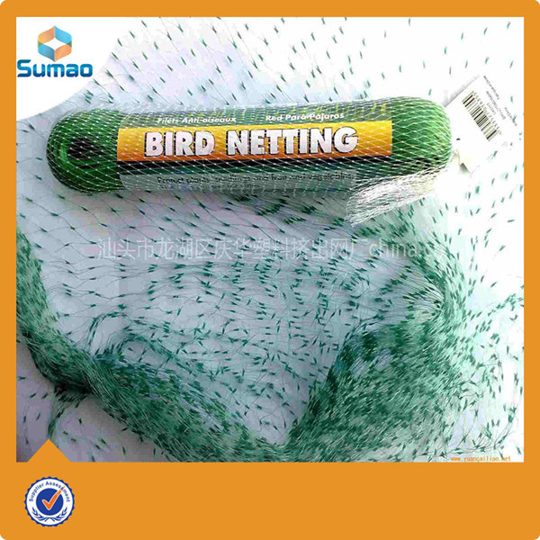 Green anti bird net for block brids/pigeon/hawk/cat from Changzhou sumao