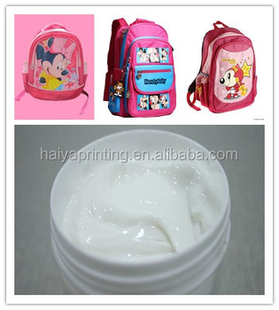 Slow dry transparent screen printing ink/paste for bottomming