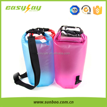 Single shoulder cylindrical waterproof pvc duffel bag