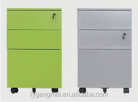 Metal filing cabinet/3 drawer mobile pedestal cabinet
