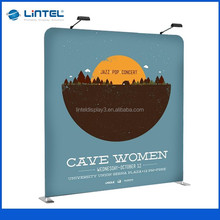 Portable fabric trade show display wall for exhibition