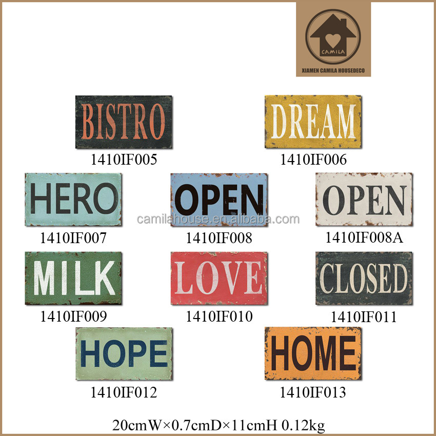 Home Decoration Plaque Custom Metal Wall Art Wholesale