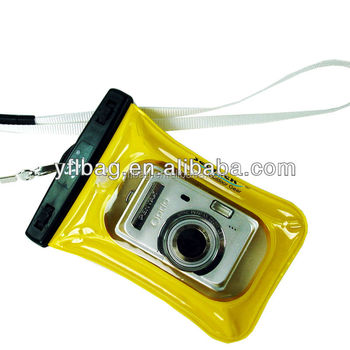 yellow outdoor camera cases for diving,swimming,playing on the beach