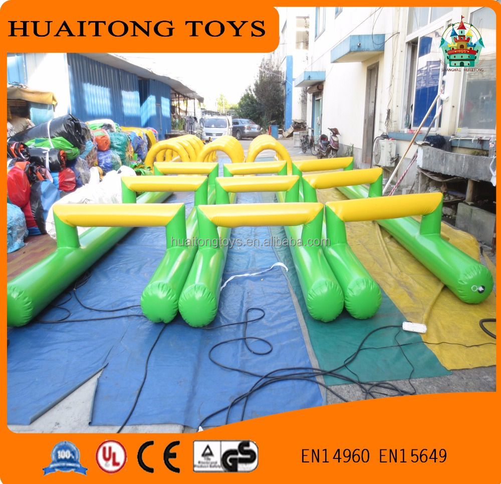 interesting outdoor playground sports equipment inflatable hurdles for sale