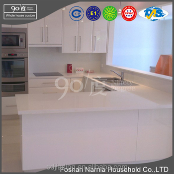 hot sale white acrylic kitchen cabinet 2400 x 720 mm/kitchen cabinet factory