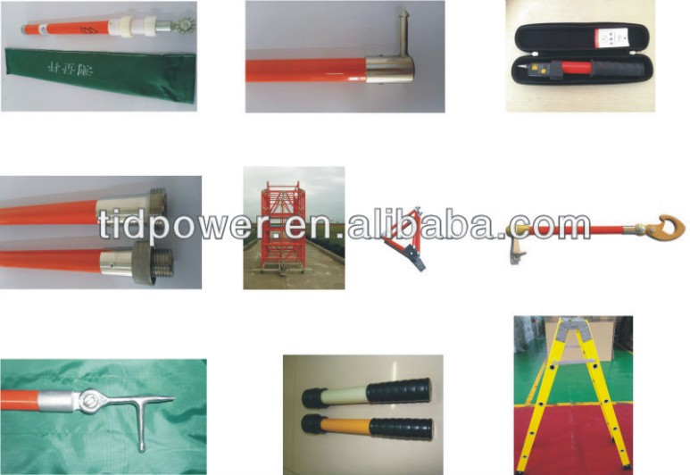High Voltage Grounding Stick : High voltage grounding stick with upto kv ground wire