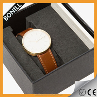 Fashion classic alloy case watch, unisex leather watch oem watch luxury