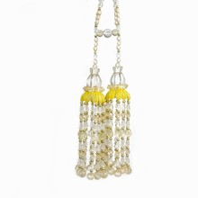 Custom bottom price curtain tieback beaded tassels