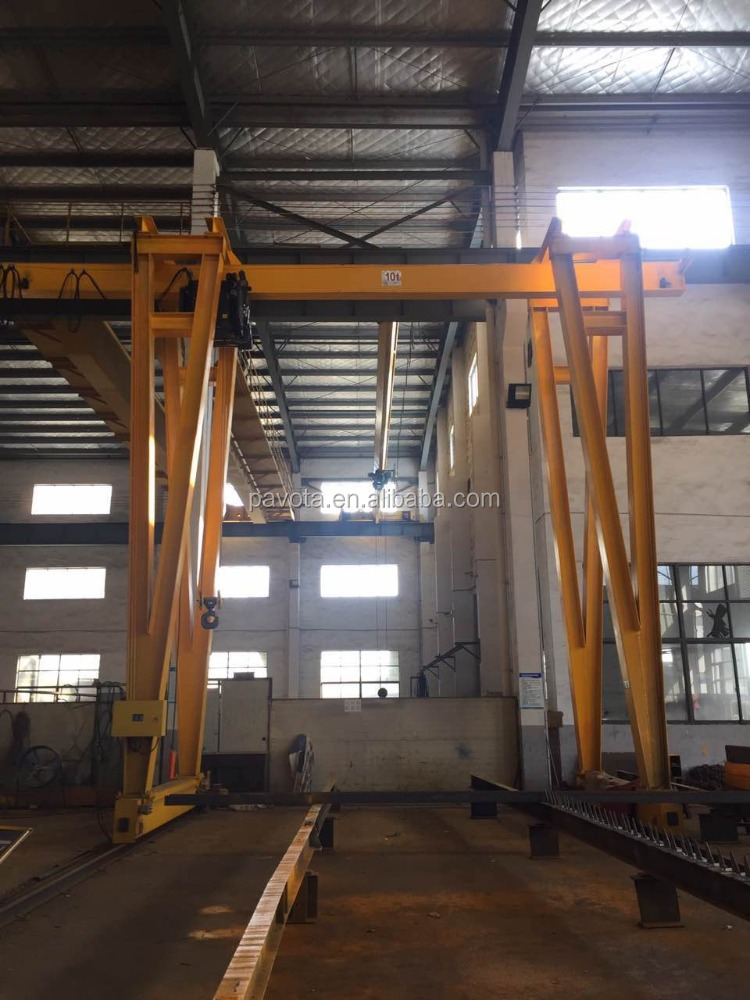 20T And Below Gantry Crane With Electric Hoist