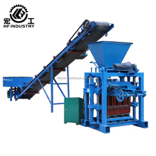 QT4-35 Small Simple Concrete Hollow Block compressed cement sand block Making Machine