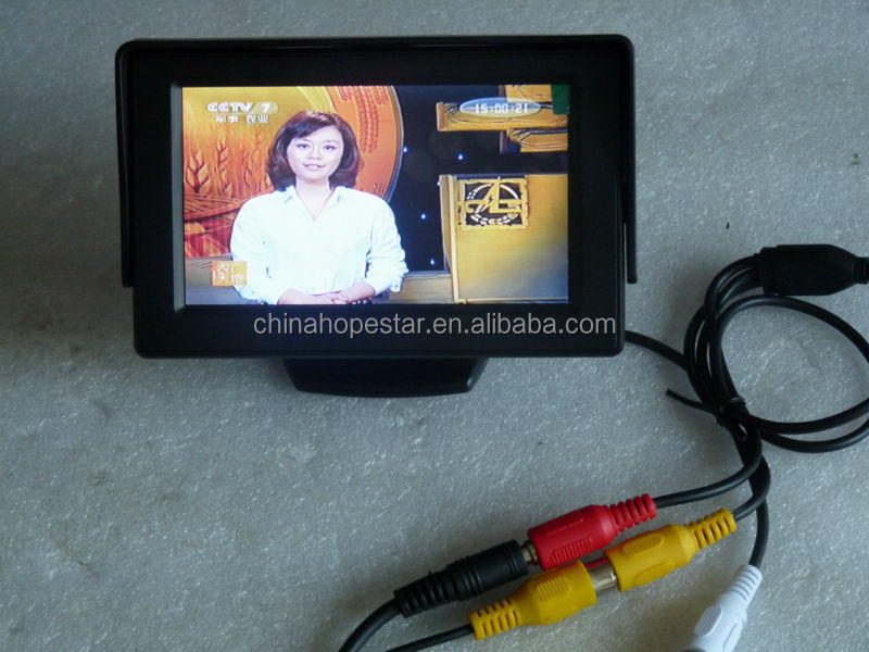 mini 3.5 inch CCTV LCD Monitor for Security with av input