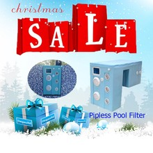 Big Pool Filter System High Wall Mount Filtration Rate Swimming Pool Filter