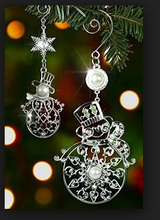 Indoor Christmas Ornaments Metal Snowman Decoration