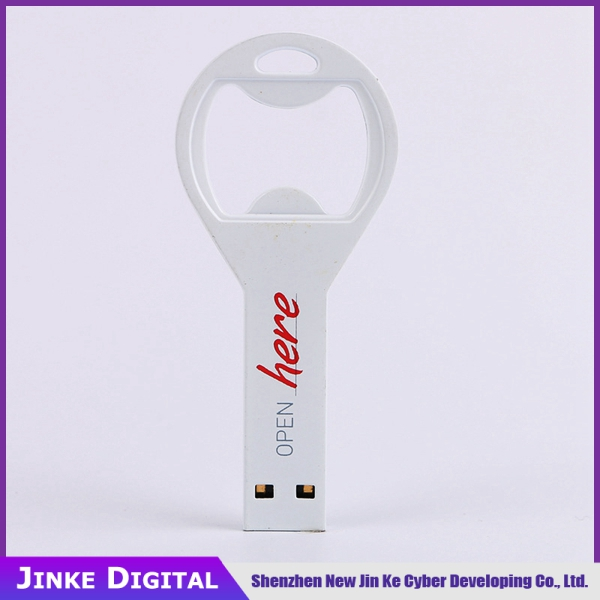 Promo Gift USB 2.0 Flash Drive / Promotional USB Pen Drive open beer bottle opener usb memory disks for key ring