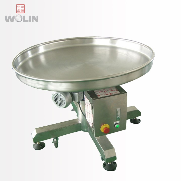 Welin New Competitive rotating collecting catching table for premade pouches or finished packed bags end of food packaging line