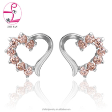 Beautiful heart earring style western jewelry supplies