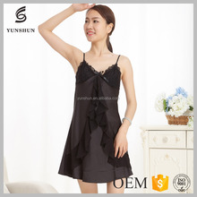 Sexy summer dress women silk nighty sleepwear for holiday