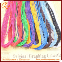 Nylon Cord Wrapped Elastic Thread 1MM, DIY Jewelry String Thread Rope for Beading
