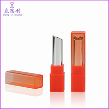 Square shape short bottom empty colorful lip balm tube plastic lip balm case for lip care use women skin care products ZK69030
