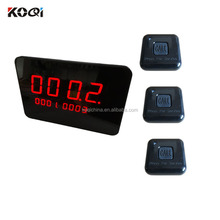Electronic Table Buzzer System 433.92MHZ Wireless Waiter Call Pager Restaurant Electronic Bell Equipment K-2000C+K-F1-BB