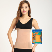 High quality see through tummy trimmer nylon waist and belly slim girdle