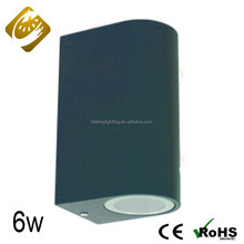 New products waterproof 3W 6W led wall light outdoor waterproof up down for building