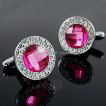 Fashion design luxury OL bling crystal cufflinks