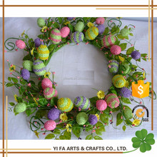 Easter decoration wreath with eggs