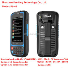 PL40 B1018 IP65 4.0 play store waterproof iso14443 handheld bluetooth rfid reader