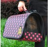 Carrying out Breathable pet dog backpack bag hand luggage bag