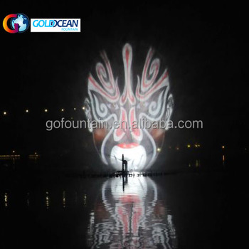 Stainless steel fountain lake water screen movie fountain performance water projector
