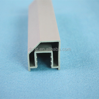 customized china different shapes rigid pvc profile