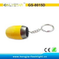 GS-8015D Aluminum 6 led cell battery police logo key chain flashlights