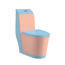 HS-8045 floor stand dual-flush pink color siphonic one piece toilet