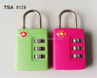 Plastic 3 digital Combination lock, TSA number code padlock