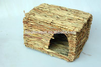 Collapsible cat straw house/folding hamster hut/pet nest for sale