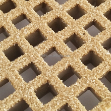 Anti slip fiberglass molded frp plastic grating sheet