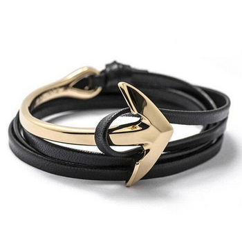 Wholesale jewelry 2016 new anchor infinity bracelets