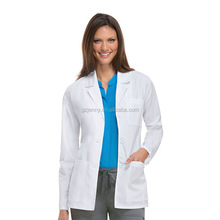 Chinese Factory Customized Lab Coat for Doctors Hospital Workwear White Nurse Uniforms